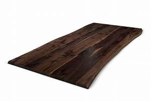 Tischplatte Mit Baumkante : tischplatte aus nussbaum mit baumkante holzpiloten ~ Frokenaadalensverden.com Haus und Dekorationen