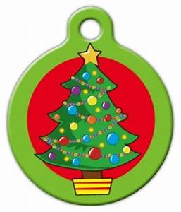 Cartoon Christmas Tree Pet Name Tag