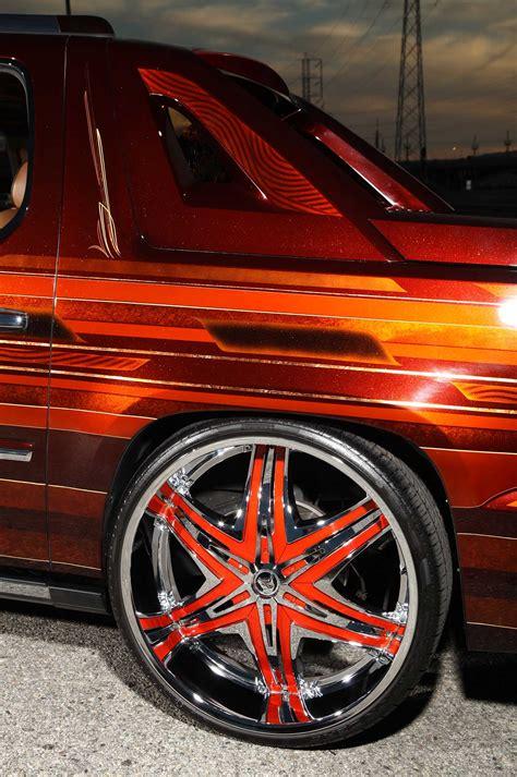 cadillac escalade ext custom wheels diablo elite 30x10 0 a 2008 cadillac escalade ext on diablo wheels lowrider