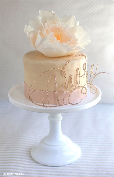 Latest Kitchen Ideas - sparkly diy cake toppers for wedding or birthdays
