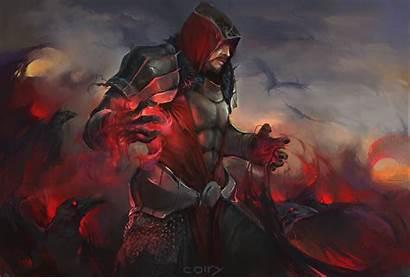 Sorcerer Blood Magic Hood Fantasy Wallpapers Character