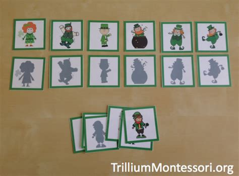 preschool printables for march and st s day 634 | March preschool activities Shadow matching