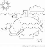 Submarine Coloring Marin Coloriage Pages Yellow Sous Imprimer Beatles Clipart Fishing Dessin Colorier Template Clip Vie Dessiner Marine Library Popular sketch template