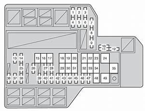 Toyota Sienna Third Generation Mk3  Xl30  2012 - 2013  - Fuse Box Diagram
