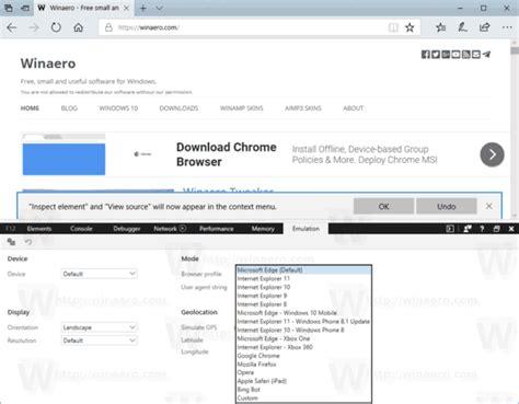 agent user change edge microsoft switch along internet firefox chrome browser