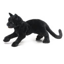 black cat stuffed animal black cat puppet by folkmanis puppets at stuffed