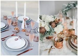 Deco Cuivre Rose : d co de mariage aux couleurs m talliques or argent ou ~ Zukunftsfamilie.com Idées de Décoration
