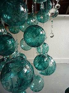 Clear Pendant Lights Green Blue Teal Bubble Chandelier Glass Ball Ornaments