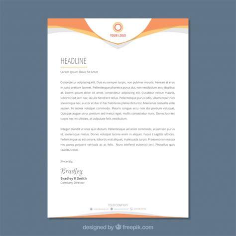 letterhead template  flat style vector