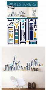 nouvelles images wall stickers nouvelles images new york With kitchen cabinets lowes with new york hut sticker