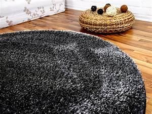 Hochflor Teppich Rund : hochflor shaggy teppich luxus feeling mix anthrazit rund in 7 gr en teppiche hochflor langflor ~ Indierocktalk.com Haus und Dekorationen