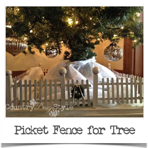 picket fence  christmas tree country design style