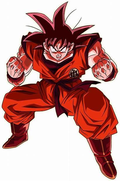 Goku Kaioken Render Xkeeperz Deviantart Dragon Ball