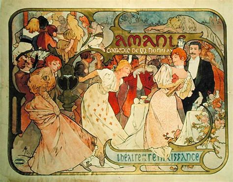 Poster Advertising ''amants'' A Comedy At