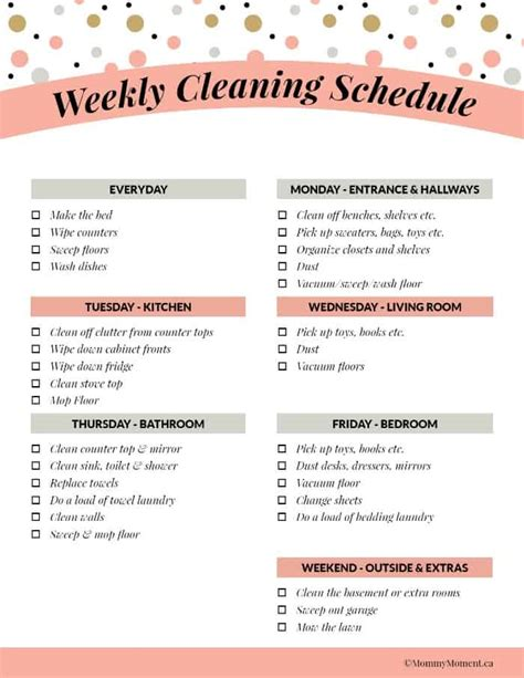 Weeky Cleaning Schedule  Free Printable  Mommy Moment. Sample Business Letter Template. Magazine Cover Page. Federal Loans For Graduate School. Graduation Gift Ideas For Him. Invoice Template Free Downloads. Graduation Shadow Box Ideas. Free Weekly Calendar Template. Free Catering Invoice Template Excel