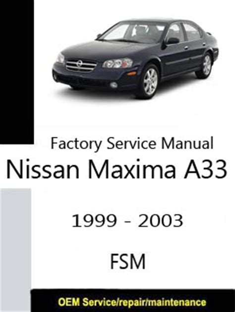 free auto repair manuals 1999 nissan maxima security system nissan service manual