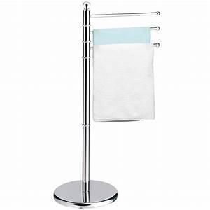 meuble porte serviettes salle de bain metal inox chrome With porte serviette meuble salle de bain