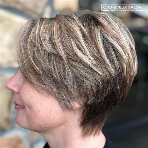 short hair color  female fashion fans short