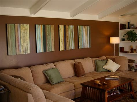 convenient brown color in the family room home ideas on