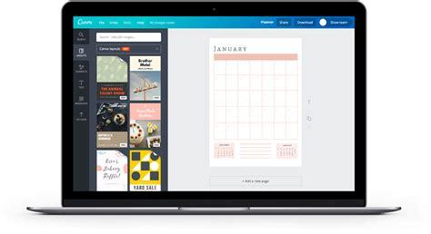 terminkalender selbst gestalten und erstellen canva