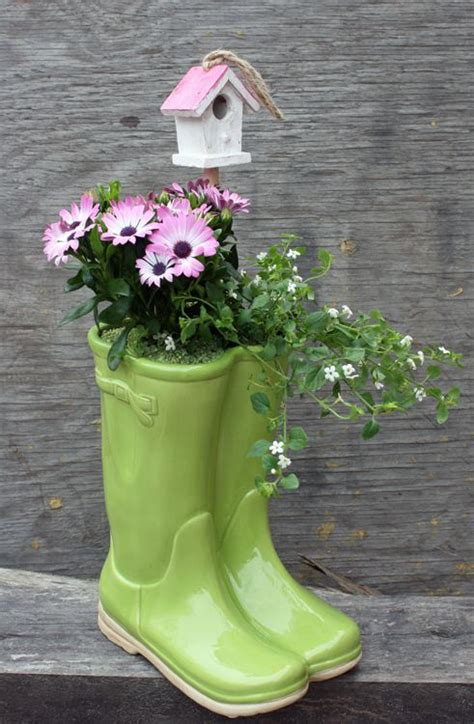 185 Best Images About Rain Boot Planters On Pinterest