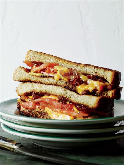 tomato grilled cheese  beer  bacon marmalade