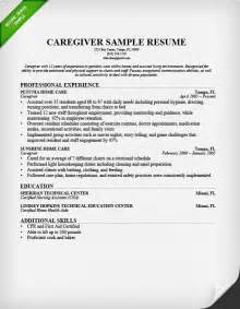 sle resume for caregiver for disabled nanny resume sle writing guide resume genius
