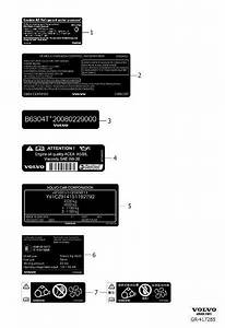 Volvo S60 Inscription A  C System Information Label  Decal