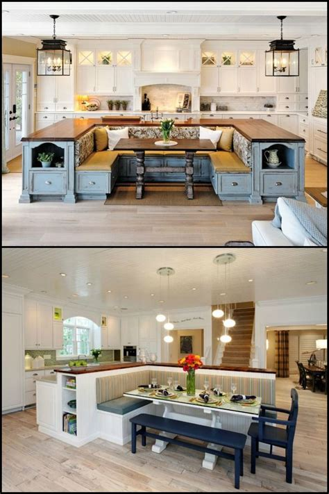 Island Booth Seating by Kitchen Island With Built In Seating Inspiration Fixer