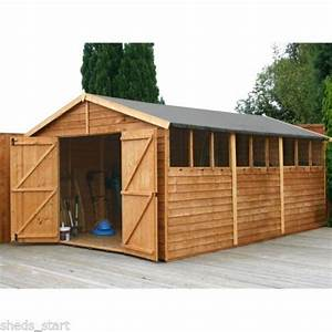 15x10 wooden workshop apex shed overlap garden sheds With big sheds for sale cheap