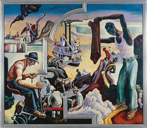 american mural artists the story hart benton s