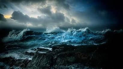 Ocean Stormy Sea Sky Clouds Wallpapers Iphone