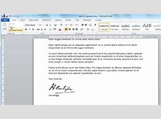 Signature Template For Word Image collections Template