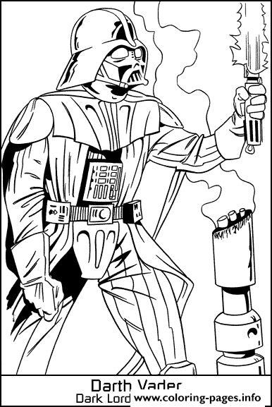 star wars  jedi dark vador coloring pages printable