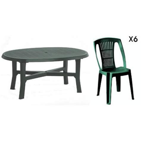 table 6 chaises beautiful salon de jardin vert plastique ideas awesome