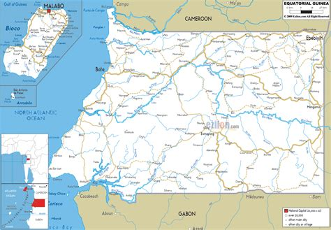 Detailed Clear Large Road Map of Equatorial Guinea ...