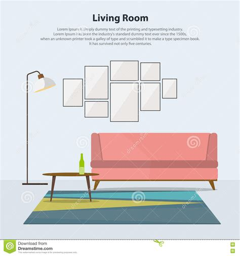 sofa room vector home interior design modern living room with pink sofa