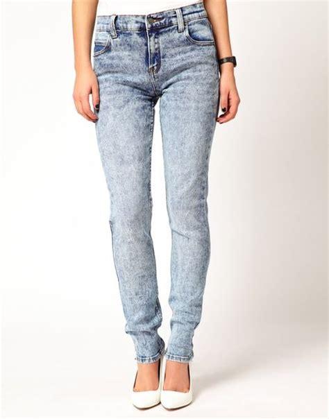 cheap light blue skinny jeans cheap monday tight light wash skinny jeans in blue