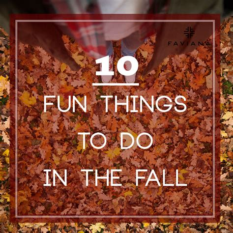 10 Fun Things To Do In Fall  Glam & Gowns Blog