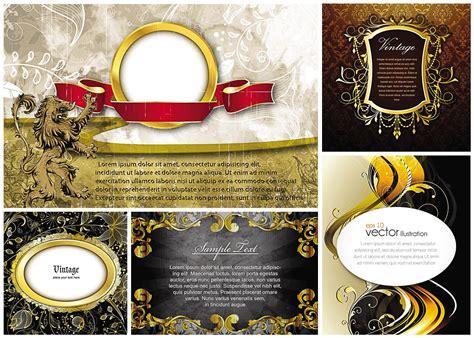 gold frames  heraldic elements vector