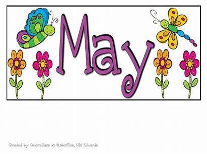 Calendar Clipart Clip Heading Month Monthly Cliparts