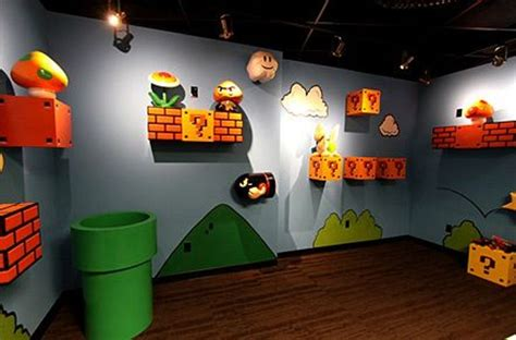 Cute And Unique Wall Decoration With The Theme Of Super Mario