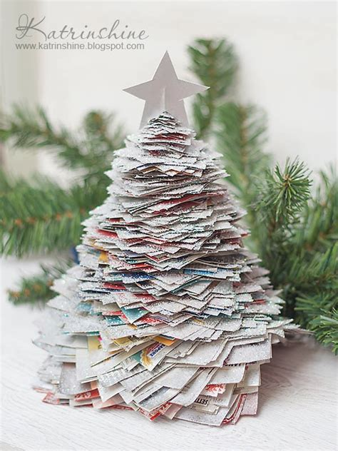 katrinshine recycled paper christmas tree diy