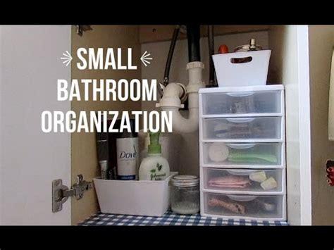 Small Bathroom Organization Youtube