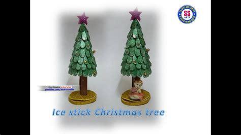 popsicle stick christmas tree diy christmas