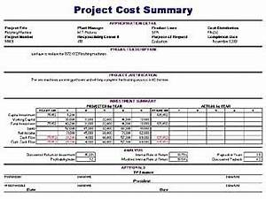 expense templates free layout format With project cost summary template