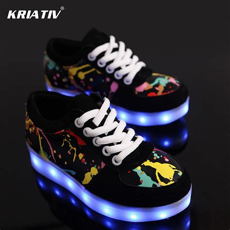 led light shoes for kid aliexpress com buy kriativ usb charger children led