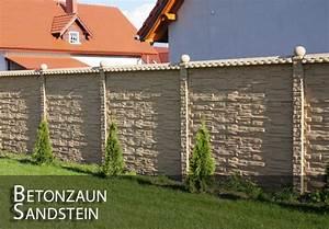 Zaun Aus Beton : zaun betonzaun sandsteinoptik gartenzaun betonzu ne ebay ~ A.2002-acura-tl-radio.info Haus und Dekorationen