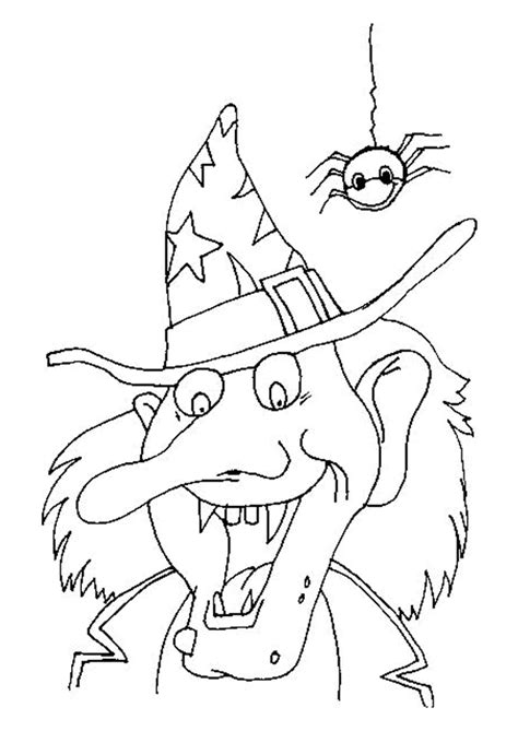 dessin  colorier halloween sorciare