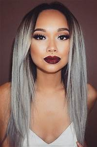 Hair Length Chart Bundles Luxury Brazilian Hair Silver Grey Ombre Straight